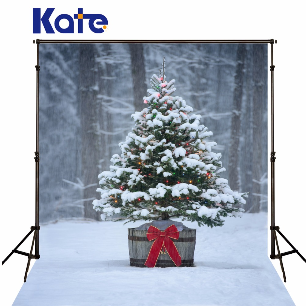 Kate Christmas Tree No Wrinkles Backdrop Winter Frozen Snow Backgrounds For Photo Studio Party