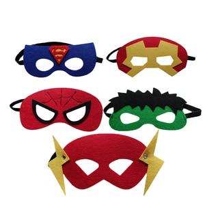 Image 3 - 20pcs/set Creative Cartoon Super Hero Masquerade Mask Childrens Day Party Supplies Christmas Wedding Decoration Birthday gift