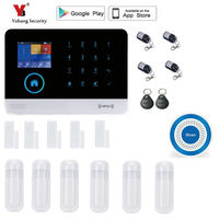 Yobang Security Wireless Wifi GSM Alarm System Home Security Set Voice Guide Two Way Intercom Free