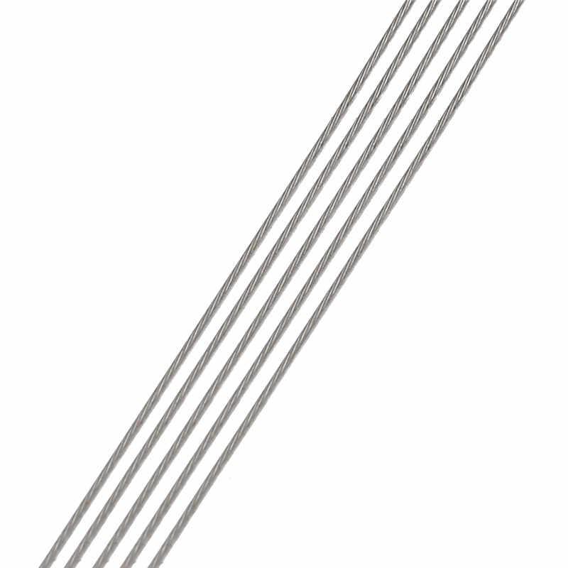 1 ロール/ロット 0.3/0.45/0.5/0.6 ミリメートル性の強いラインステンレス鋼線虎尾ビーズワイヤージュエリーメイキングのため検索