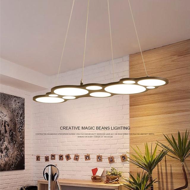 hanging light fixtures living room paint color schemes modern led chandelier dining lighting lights home illumination restaurant suspended lamps