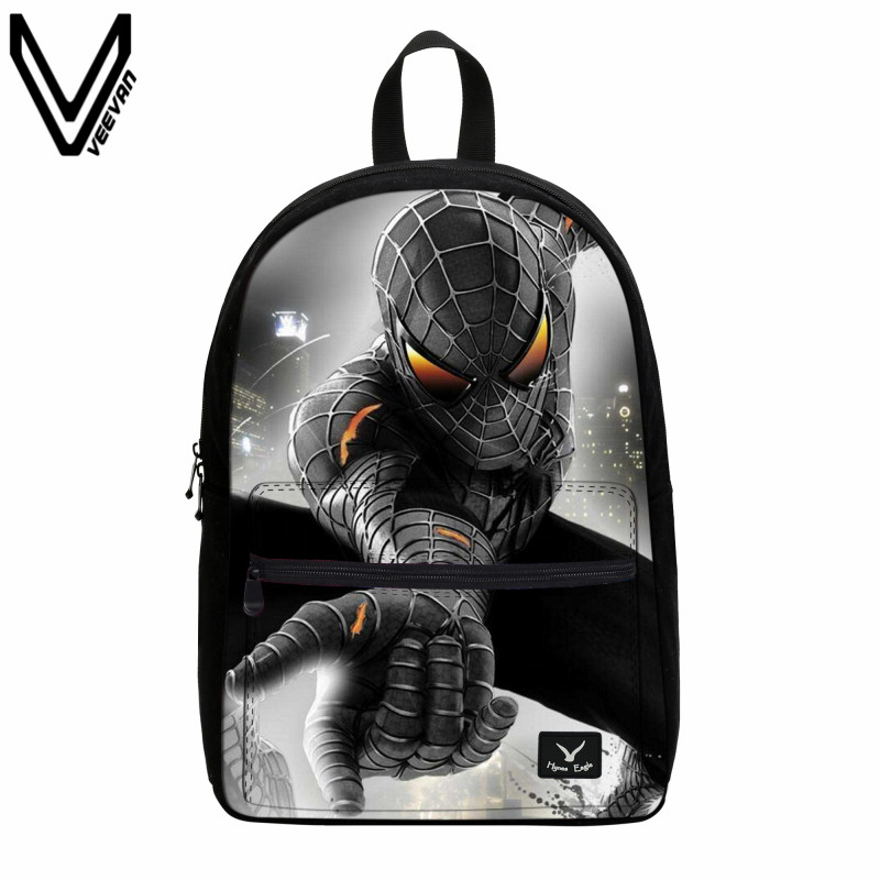 VEEVANV 2017 New 3D Spider Man Canvas Backpack School Bags Spiderman Bag For Teenagers School Canvas