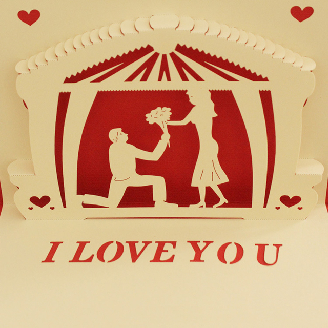 10 piecelot3d pop up greeting cards marriage proposal handmade 10 piecelot3d pop up greeting cards marriage proposal handmade kirigami anniversary m4hsunfo