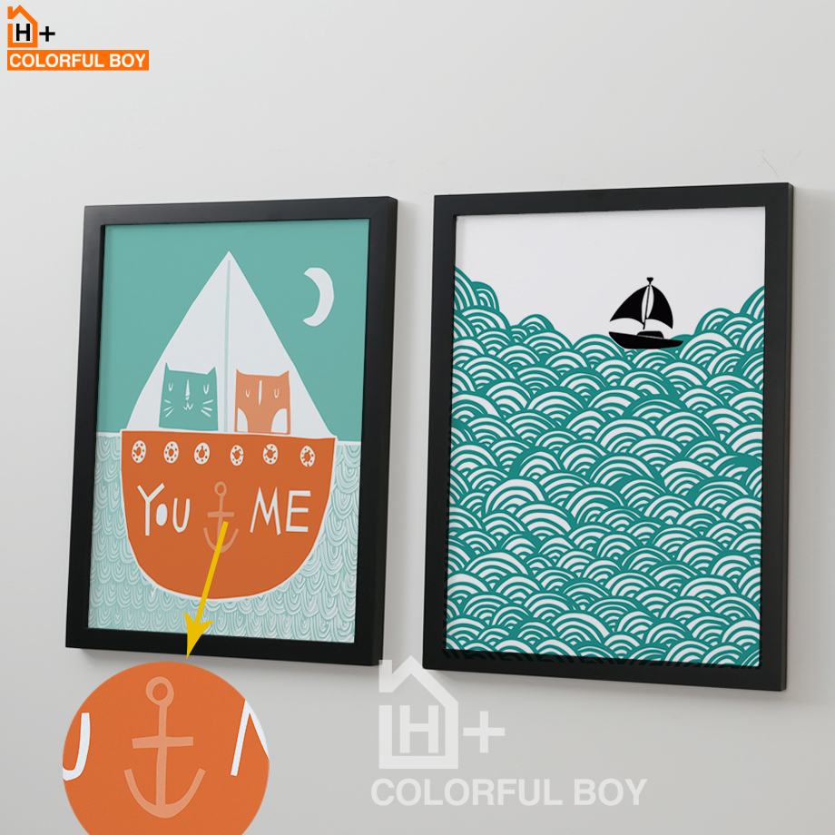 Love Quotes On Canvas Colorfulboy Cartoon Abstract Sea Landscape Love Quotes Canvas