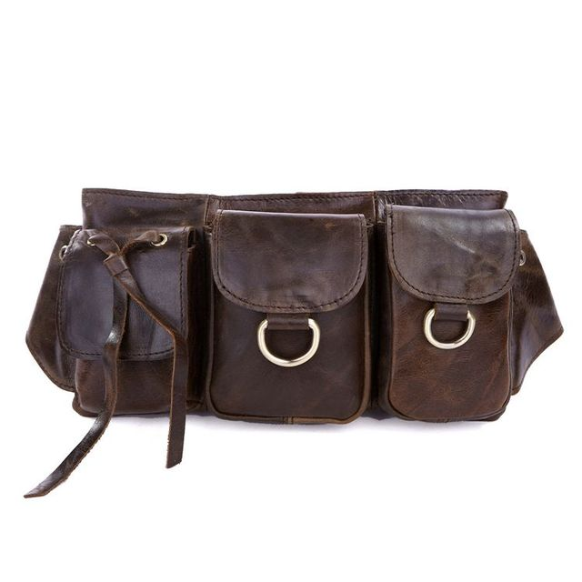 ed6a0b93b001b Vintage cintura bolsas couro de cuero genuino fanny pack de hombre de moda  pequeño viaje bolsas