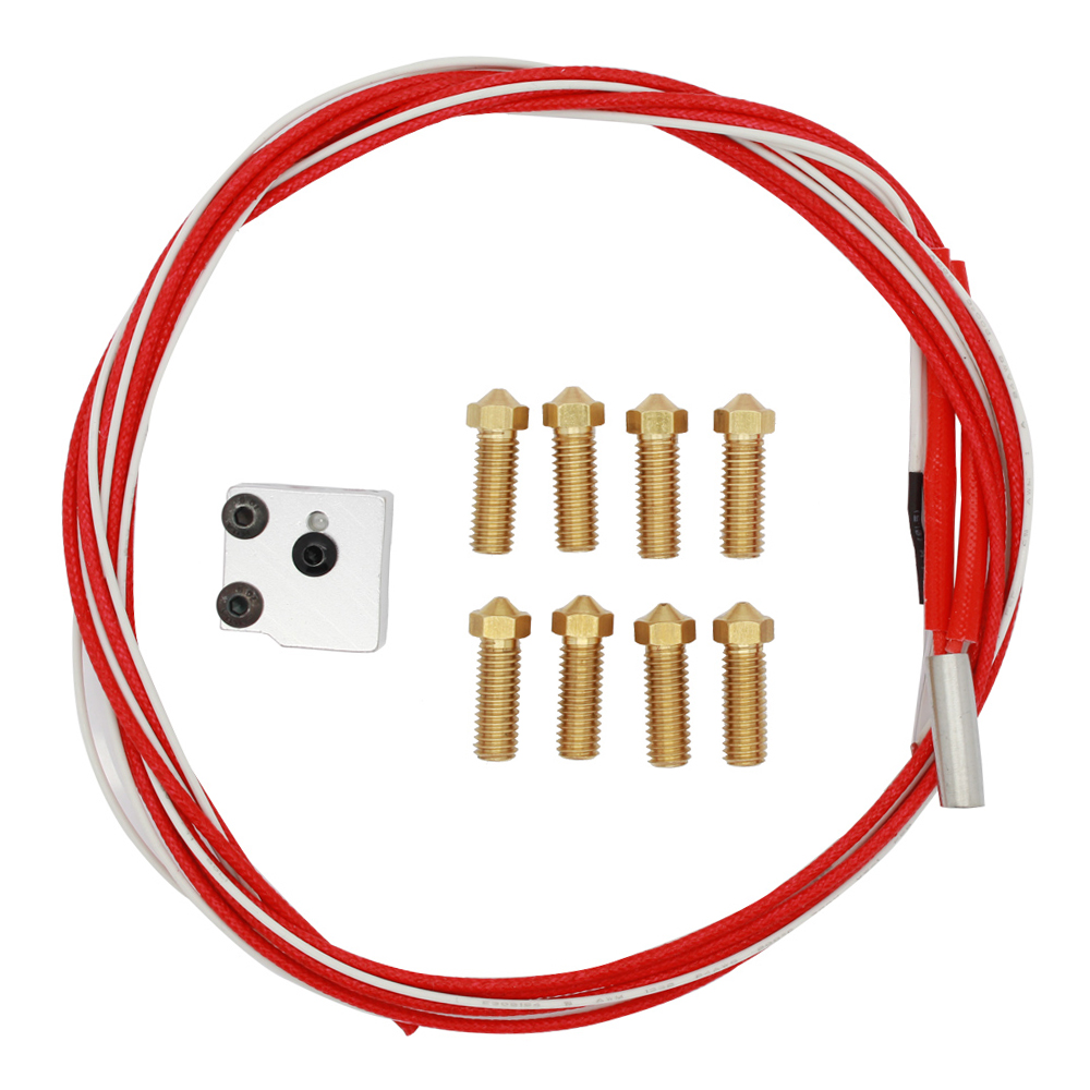 3D printer parts  Volcano hot end eruption pack kit set heater block + nozzle pack for 1.75/3 mm Volcano kit Freeshipping