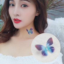2019 new butterfly necklace female romantic transparent fish line wholesale