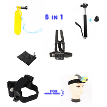for Xiao Yi Accessories Set kIT Stick to Self Monopod + Float Bobber + Chest Belt + Head Strap for Gopro Hero 4 3 3+ SJ4000