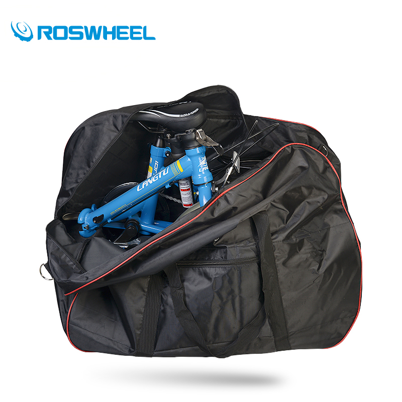 ROSWHEEL Bicycle Storage Bag 14-20 Folding Bike Loading 420D Pannier Shoulder Hand Carry Luggage Velo Handlebar Seatpost Mount