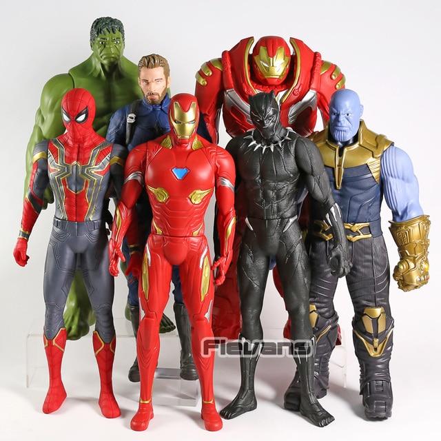 War Figura De Spiderman Acción Para Niños Iron Infinity Thanos Vengadores Negra Cascabel Hulk Juguetes Pantera Capitán América Man R3jL54A