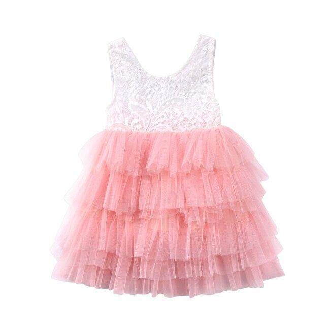 Kind Baby Mädchen Kleid Partei Prinzessin Kleid Formalen Patchwork ...