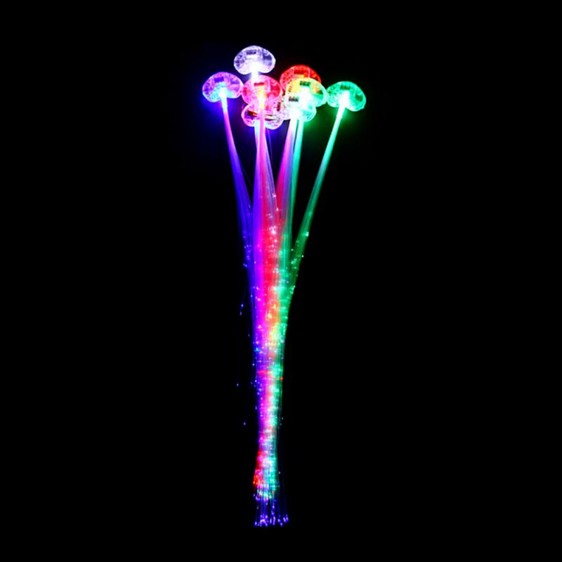 new colorful led light braid christmas party novelty decoration hair extension by optical fiber halloween concert - Halloween Novelties Wholesale
