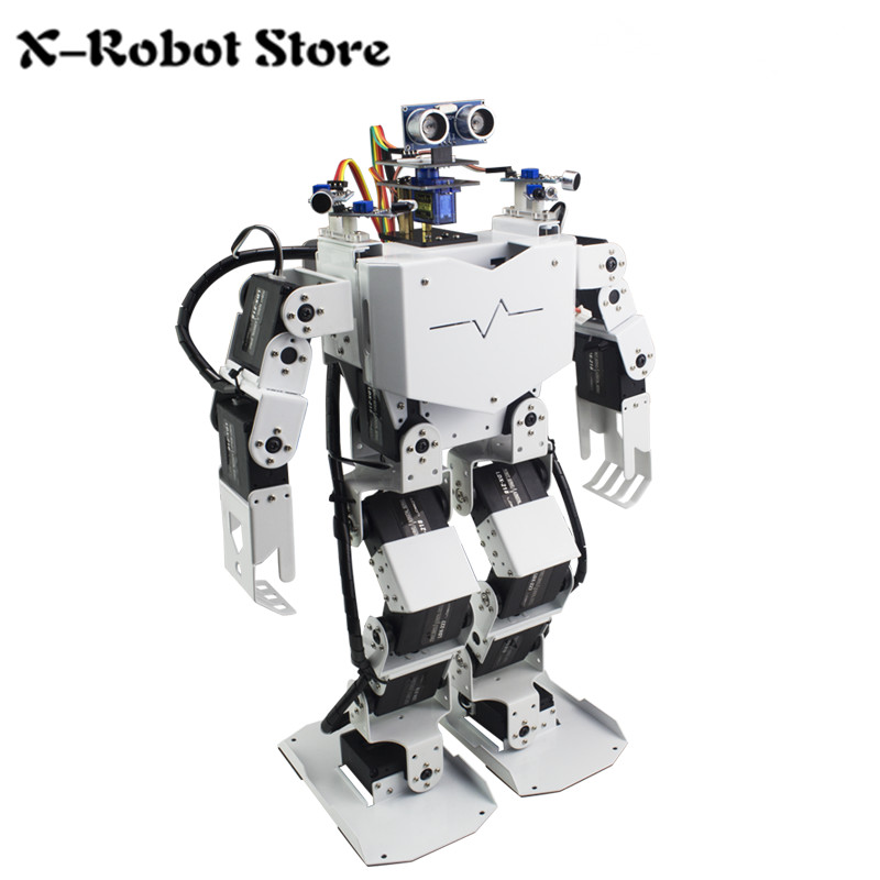 17DOF Humanoid Robot Secondary Development Kit/Robo-Soul H3.0/Humanoid Robot Frame Full Kit/24-way steering engine controller zoomer ruckus fi nps50 black engine frame extend extension kit with handle post