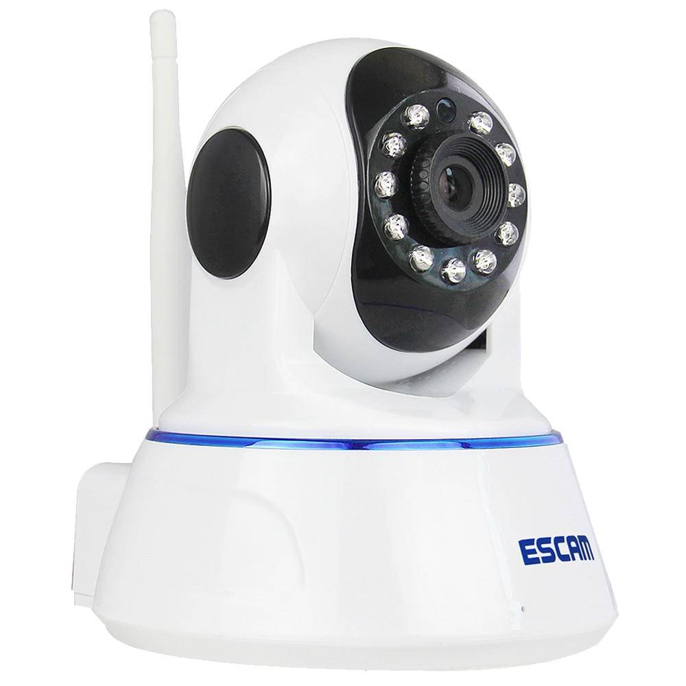 Escam QF002 HD 720P Wireless IP Camera WIFI Day Indoor Infrared Security Surveillance CCTV Mini Dome Camera SD Night Vision P2P escam qf003 ip camera 1080p 2mp wireless day night vision p2p wifi indoor infrared security surveillance cctv mini dome camera