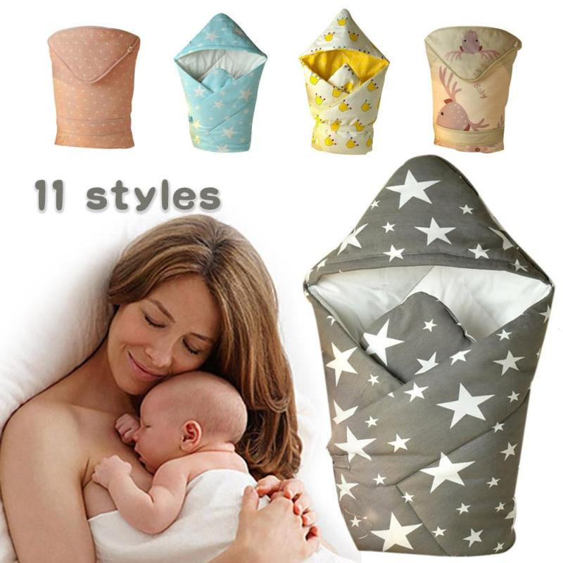 Spring autumn baby warm blanket envelope for newborn Receiving Blankets Cotton infant Wrap swaddle Baby bedding sleeping bag R4 baby quilt newborn envelope receiving blankets cotton baby deken chunky knit blanket cotton printed animal baby blanket 608027