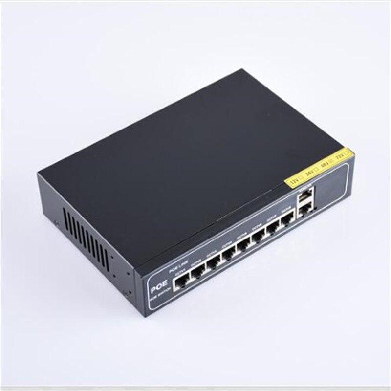 ANDDEAR XX8 48 v 8 port gigabit unmanaged poe switch 8*100/1000 mbps POE poort; 2*100/1000 mbps UP Link poort; 1*100/1000 mbps