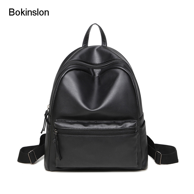 Bokinslon Women PU Leather Backpacks Fashion Retro Women Travel Backpacks Solid Color Practical Backpacks Bags Ladies рюкзаки zipit рюкзак shell backpacks