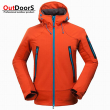 BRAND Men 's outdoor mountain camping leisure sports jackets complex cashmere soft shell jacket wholesale sales