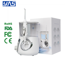 YAS LV880 800ml Oral Irrigator 5pcs Tips Dental Water Flosser Water Floss 800ml Oral Hygiene Dental Flosser Water Flossing cheap Electric Oral Irrigator Adults 100-240VAC 50 60HZ 18W 10 Pressure Settings IPX 7 water resistant 0-110PSI Equipped with a water stop button design