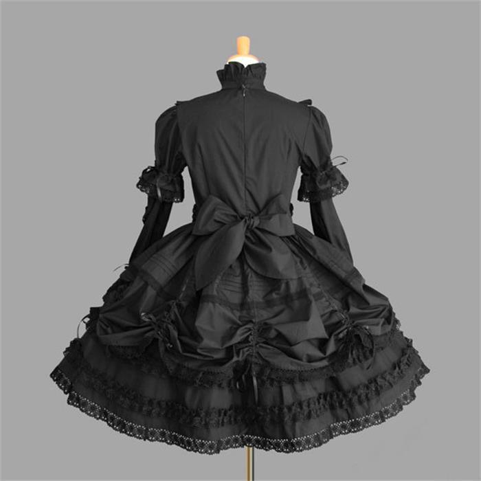 Robe Lolita gothique victorienne robe de princesse Halloween Costume Lolita Cosplay robe en couches pour femme de chambre jeux Cosplay - 2