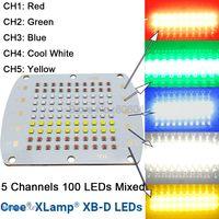 Cree XBD XB D 100 светодиодный s 5 канал RGBW высокой Мощность светодиодный излучатель светло красный зеленый сине белые желтый Цвет DIY светодиодный с