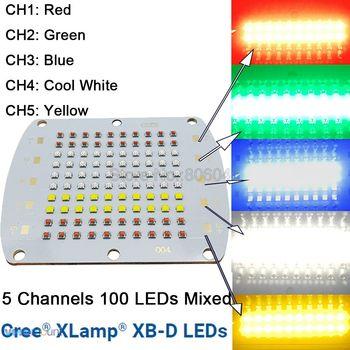 Cree XBD XB-D 100LED 5 kanałowy RGBW wysokiej dioda LED dużej mocy nadajnika czerwone światło zielony niebieski biały żółty kolorowe do diy światła LED z miedzi z pcb