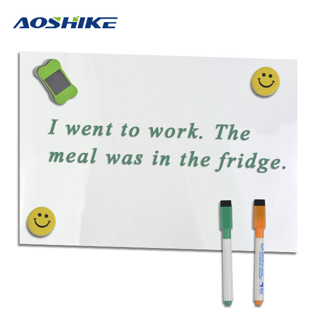 Aoshike Flexible Refrigerator magnet A3 Soft fridge magnet Magnetic whiteboard Kids Drawing Message Notes Board 30*42cm 0.3mm zhidian 32 24soft magnetic whiteboard dry erase board white wall back without glue don t damage metope t 0 3mm