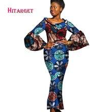 2017 Sügis Bazin Riche Aafrika kleidid naise vaha printimiseks Pikad varrukad merineitsi kleidid Dashiki Aafrika riided WY1297