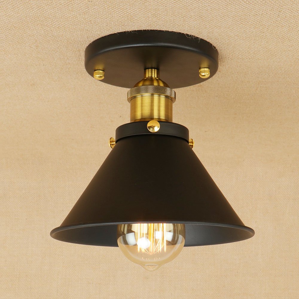 Decorative Bathroom Ceiling Lights : Retro loft vintage industrial ceiling lamp led e