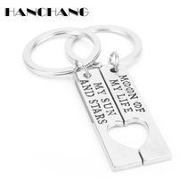 HANCHANG 1 Pair Keychains Game of Thrones MOON OF MY LIFE MY SUN AND STARS Keychain Couples Lover Gifts Key Ring llaveros(China)