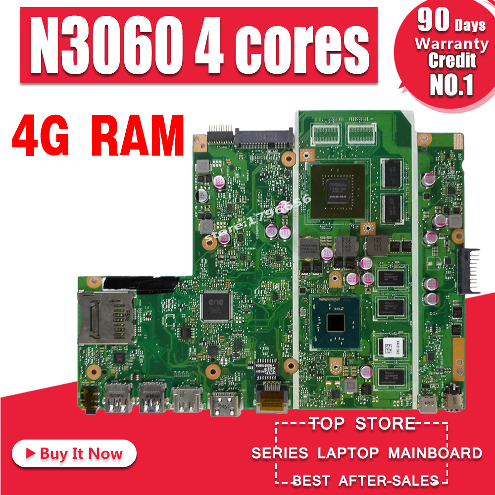 X541SC MB._4G/N3060/AS V1G 90NB0CI0 R00040 Mainboard For Asus X541S X541SC Laptop motherboard 100% tested
