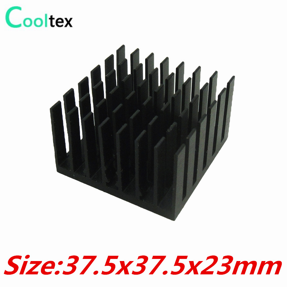 10pcs / lot 37.5x37.5x23mm Алюминий HeatSink шұңқыр радиаторы Chip VGA RAM IC LED COOLER 100% жаңартылған Ұсынамыз !!!