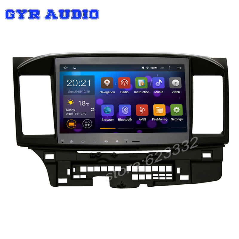 Android 5 1 Quad core 10 2 1024 600 Car dvd GPS stereo radio for Mitsubishi