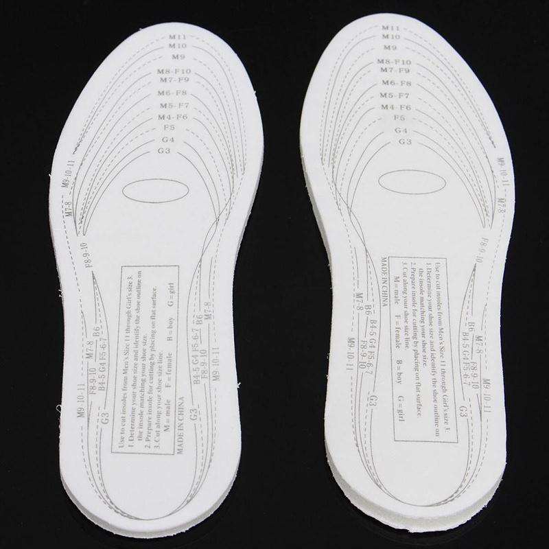 Forfar 1 Pair Men/Women Anti-Arthritis Memory Foam Comfortable Shoe Insole Arch Support