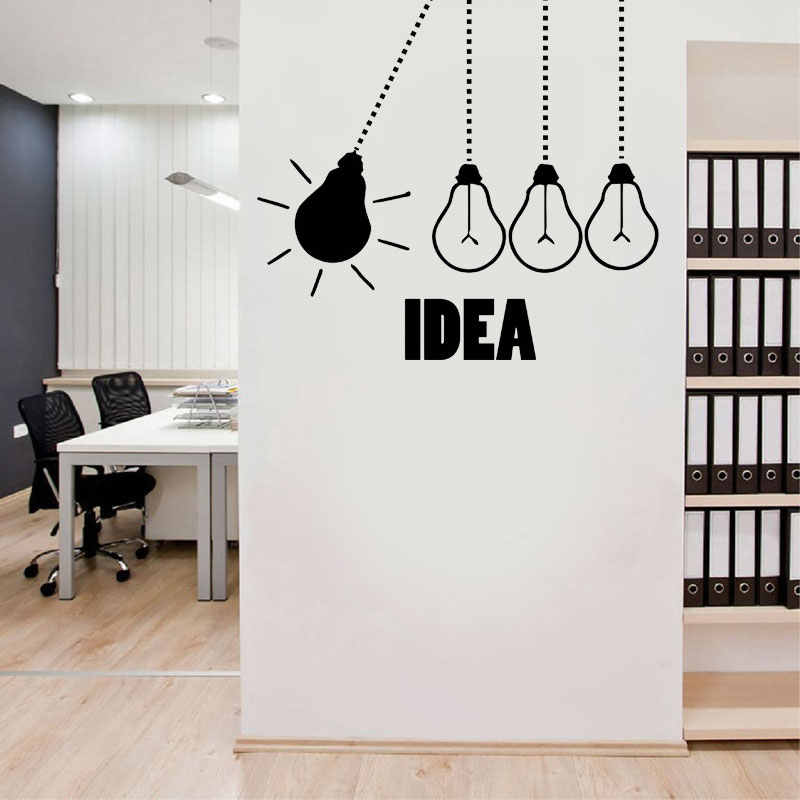 Light Bulbs Office Vinyl Wall Decor