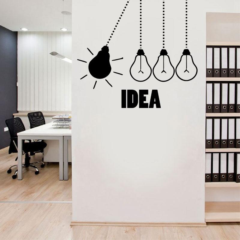 Light Bulb Office Wall Decal - light bulbs office vinyl wall decor graphics work idea creative creativity wall sticker- LZ25