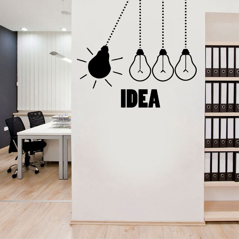 Light Bulb Office Wall Decal light bulbs office vinyl wall ...