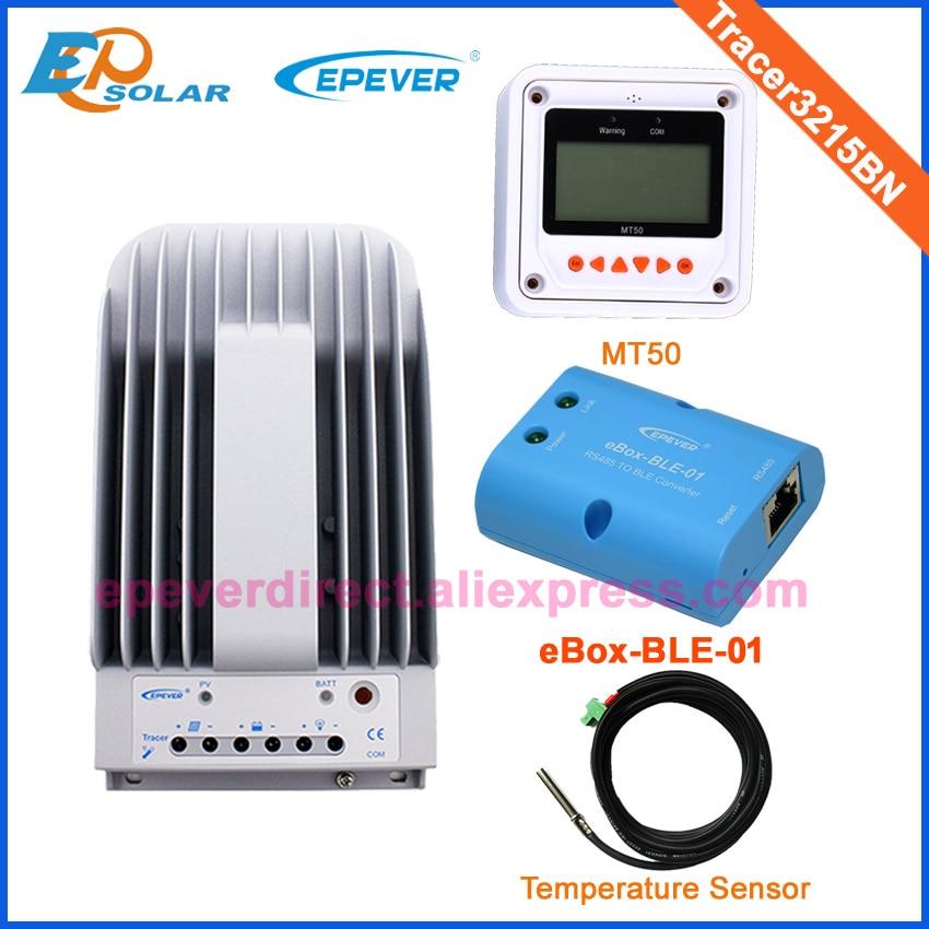 mppt Tracer3215BN Max PV input 150v 12v/24v auto work charger solar regulator with BLE MT50&temperature sensor two color choices mt50 solar regulator 20a mppt tracer2210a with ble and sensor for 12v 24v auto work