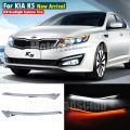 LED Head Light Eyebrows Trim Lamp Bezel Cover Headlight DRL For KIA K5 2011 2012 2013 2014 With Turn Signal
