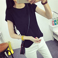 Female summer simple short sleeved T-shirt bottoming shirt T-shirt Size pure Korean fan Amy love slim slim jacket