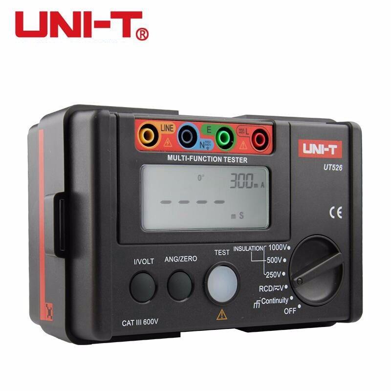 UNI-T UT526 Multi-Fonctionnelle Électrique Isolation Testeur Terre Résistance Mètre + 1000 V + RCD Testeur + Continuité + Vac/dc (4 en 1)