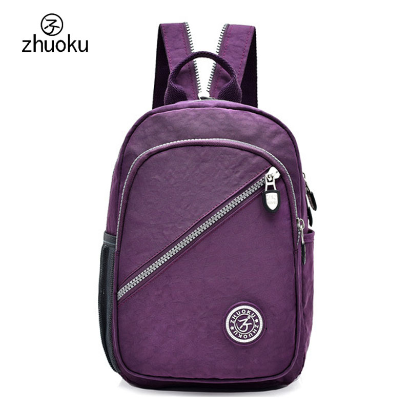 d081f3b9f67a US $14.38 28% OFF|Mini Backpack Rucksack good quality Waterproof nylon  Purse Very cheap price small double Shoulder bag 15 25 days to Moscow  ZK762-in ...