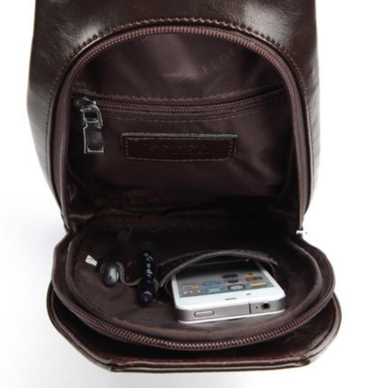Bərk rənglər Microfiber dəri kişi mesaj çantası çapraz - Çantalar - Fotoqrafiya 4