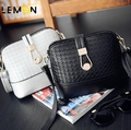 2017 New Solid Knitting Women Leather Handbags Vintage Shoulder Crossbody Bags For Women Casual Brand Women Messenger Bags A1869