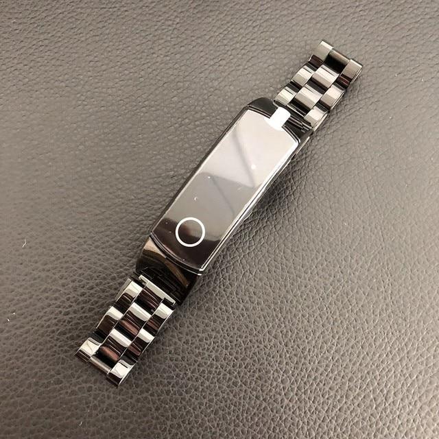 In metallo per Huawei Honor Fascia 4 5 Cinghia Della Fascia Dellacciaio inossidabile Del Braccialetto Accessori per Articoli Elettronica Smart Wristband