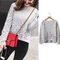 Winter Autumn Faux Mink Cashmere Sweater Women Slash Neck Knitwear Appliques Kazak Bayan Sweaters ST145