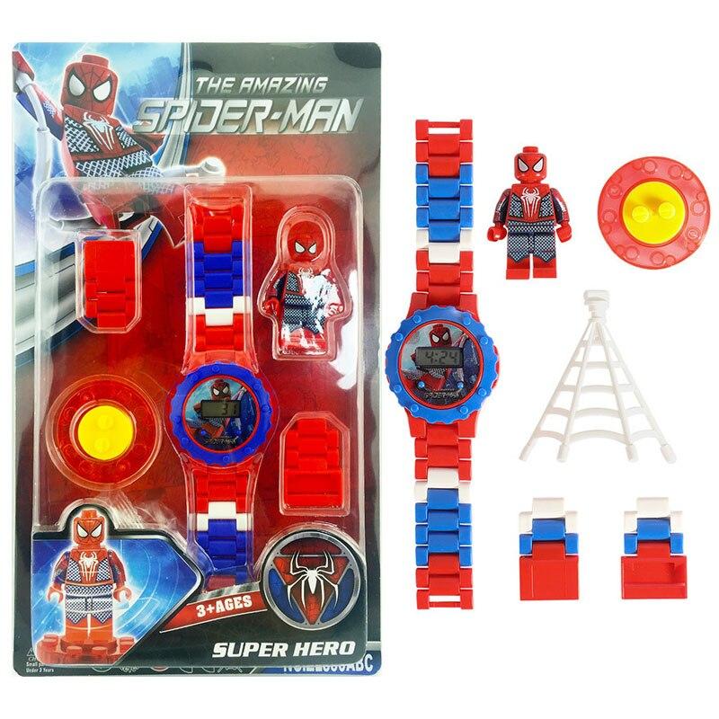 Avengers Building Blocks Series Compatible LegoINGLY Watch Marvel Batman Iron Man SpiderMan Friend Toy For Kids
