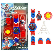 Avengers Building Blocks Series Watch Marvel Batman Iron Man SpiderMan friend Toy For Kids