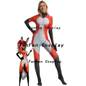 Rena Rouge Ladybug Cat Noir Cosplay Costume 3D Print Halloween Party Zentai Suit Lycra Spandex Bodysuit Hot Sale