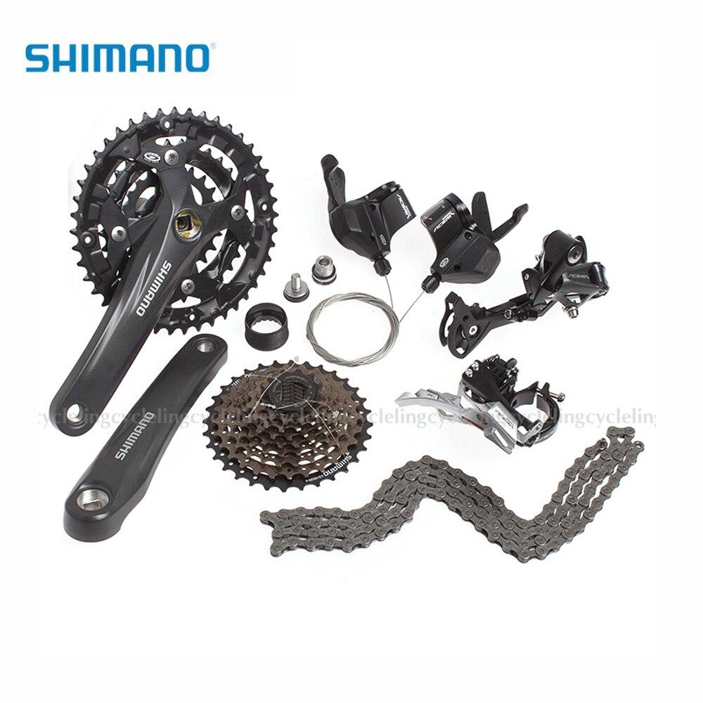 Groupe SHIMANO Acera M390 groupe Set 9 vitesses vélo vélo M390 levier de vitesse Drailleur fond de BB-UN26 Cassette de CS-HG20-9
